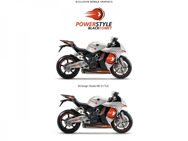 Powerstyle – Blackcomet, motorbike decal set
